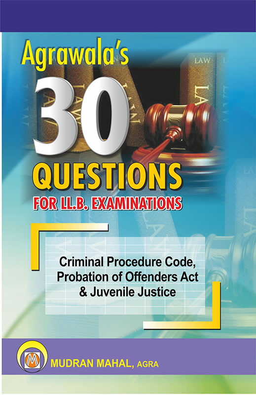 Criminal Procedure Code, Probation of Offenders Act & Juvenile JusticeCare and Protection of Children Act, 2000
